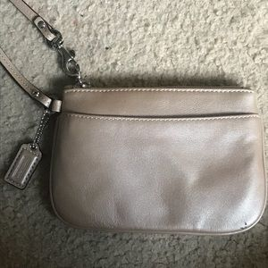 Coach Wristlet in Pewter Gold